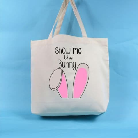 Show me the bunny tote bag Bunny Ears Easter Tote Bag Gift for Bunny lover Bunny Gift Rabbit lover