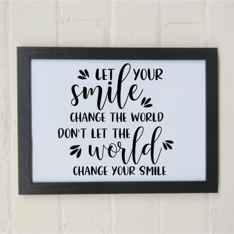 Smile print | let your smile change the world | friends present | birthday gift | wall art | wall