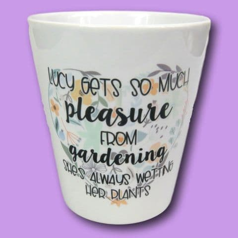 Wetting plants pot | garden gift | funny flower pot | funny garden gift | pleasure wetting plants