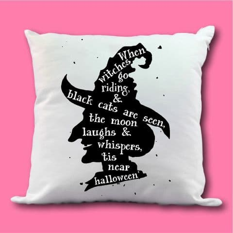 Witch Cushion | Halloween Cushion | Witch Present | Halloween Witch Cushion | Autumn Halloween Gift