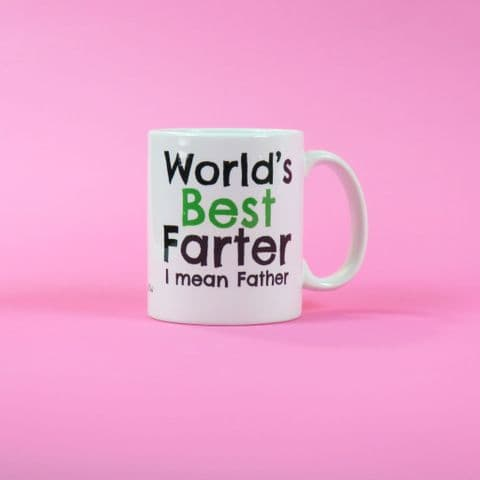 Worlds best farter ~ mean father ~ Fathers Day Gift ~ Dad Mug ~ Dad Birthday ~ Dad Coffee