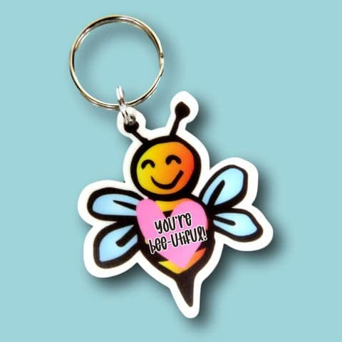 you're Bee-utiful keyring bee gift | motivational gift | bee keyring | bee lover | mum gift | bees