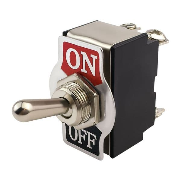 12V 20A On / Off Double Pole Toggle Switch - Screw Terminals