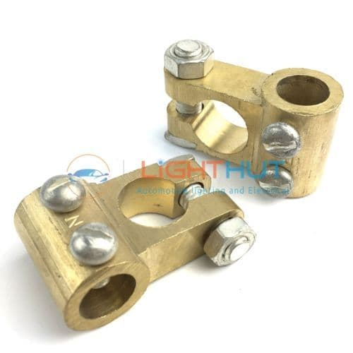 Heavy Duty Solid Brass Battery Terminal 13mm Cable