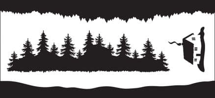 Creative Expressions - Forest Element DL Stencil