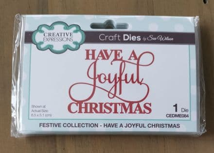 Festive Collection - Sue Wilson Mini Expressions Have a Joyful Christmas Craft Die