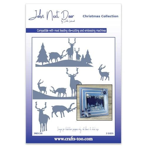 John Next Door Christmas Dies - Deer Scenes 2019 (3pcs)