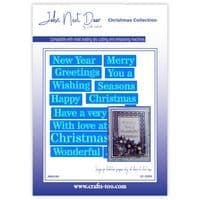 John Next Door Christmas Dies - Stencil Sentiments (15pcs)