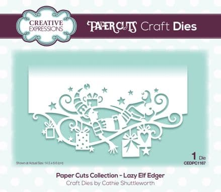 Paper Cuts Collection - Lazy Elf Edger Craft Die