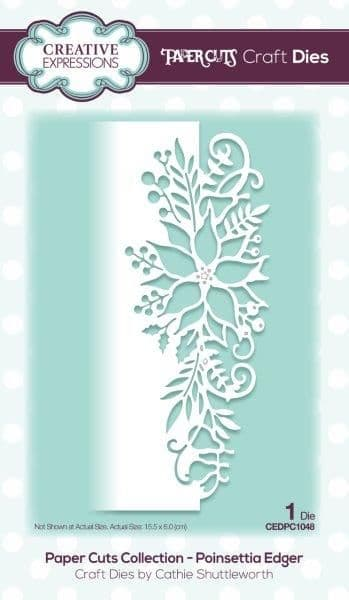 Paper Cuts Collection - Poinsettia Edger Craft Die