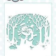 Paper Cuts Collection Scene - Snowy Embrace