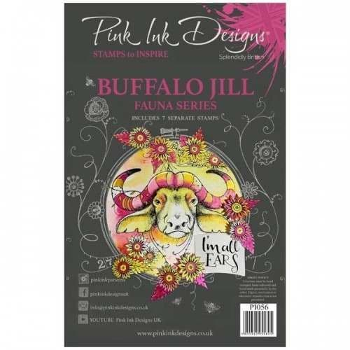 Pink Ink Designs - Buffalo Jill A5 Clear Stamp