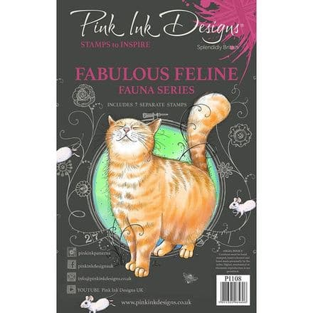 Pink Ink Designs - Fabulous Feline A5 Clear Stamp