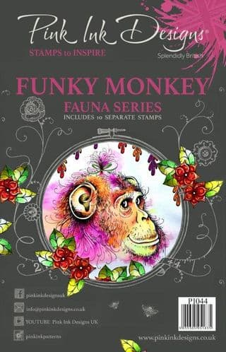 Pink Ink Designs - Funky Monkey A5