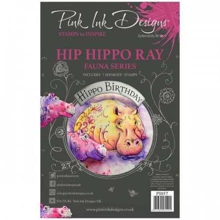 Pink Ink Designs - Hip Hippo-Ray A5 Clear Stamp