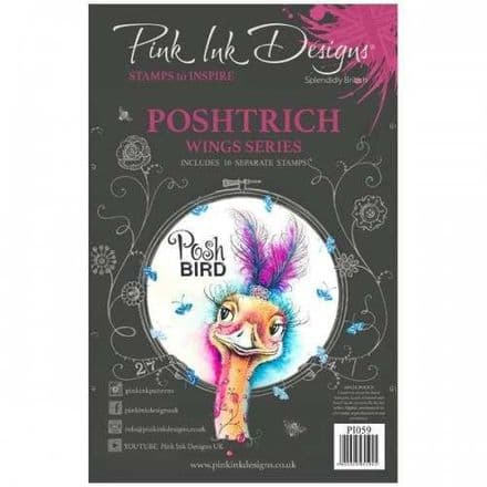 Pink Ink Designs - Poshtrich A5 Clear Stamp