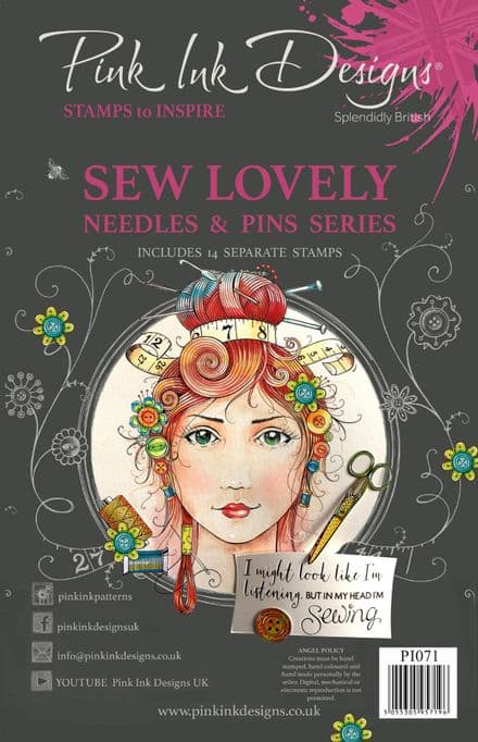 Pink Ink Designs - Sew Lovely A5 Clear Stamp