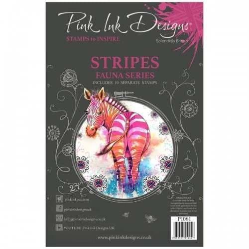 Pink Ink Designs - Stripes A5 Clear Stamp