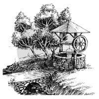 Two Jays Clear Stamp - Wishing Well