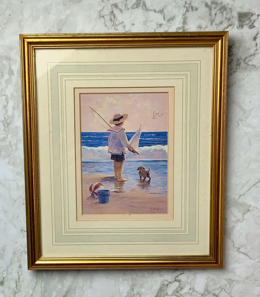 'At the Beach' Framed print by C.Kiffer