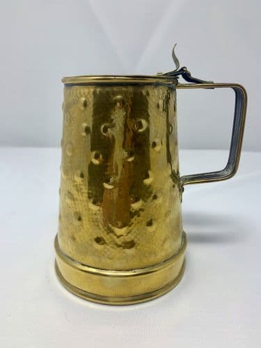 Arts and Crafts Movement Brass Tankard by Perry and Sons  Wolverhampton c1880