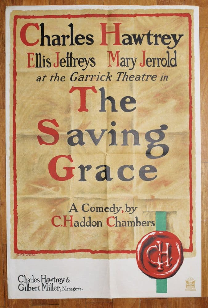 "Charles Hawtree play ""The Saving Grace"". C1930"