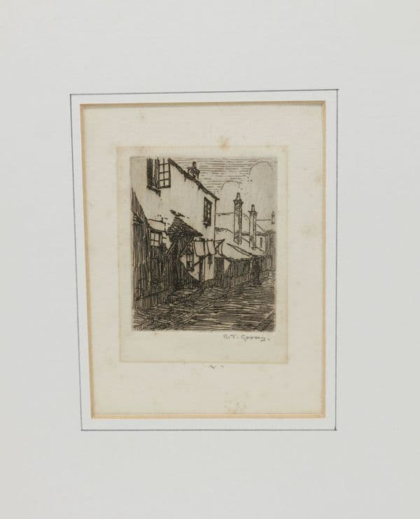 Etching of street by G.T Goody