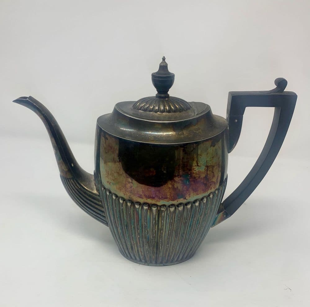 H H & S silver plated Victorian tea pot