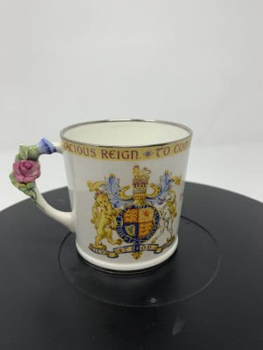 King George V Commemorative Fine Chine Silver Jubilee cup