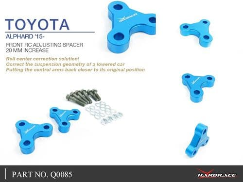 HARDRACE 20MM FRONT ROLL CENTRE ADJUSTER 2PC SET TOYOTA ALPHARD 15-