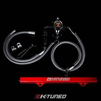 K-TUNED 6AN CENTER FEED FUEL SYSTEM LINES/FILTER/RAIL/FPR/GAUGE