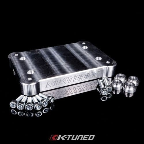 K-TUNED BILLET SHIFTER BASE PLATE MOUNTED ABOVE TUNNEL
