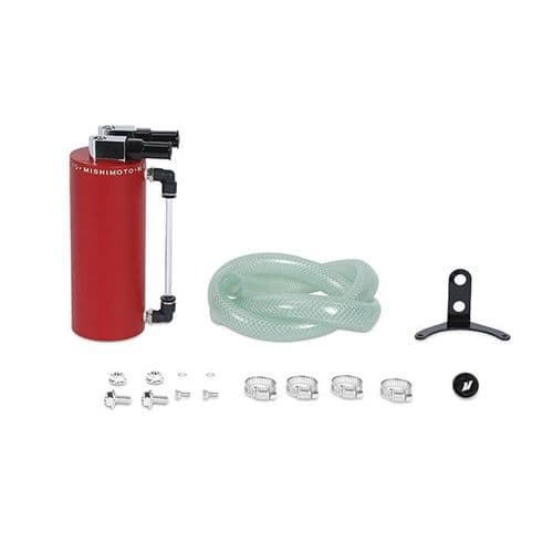 Mishimoto Aluminum Oil Catch Can - Small, Wrinkle Red