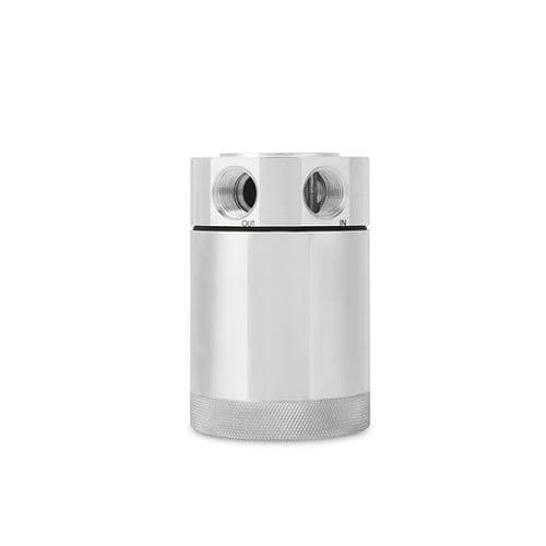 Mishimoto Compact Baffled Oil Catch Can, 2-Port, Polished