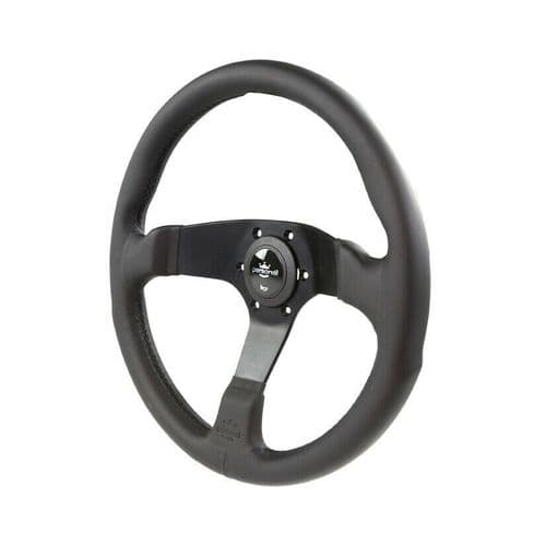 PERSONAL FITTI E3 LEATHER STEERING WHEEL 350MM