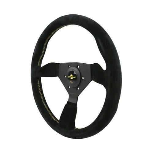 PERSONAL GRINTA BLACK SUEDE LEATHER STEERING WHEEL 330MM