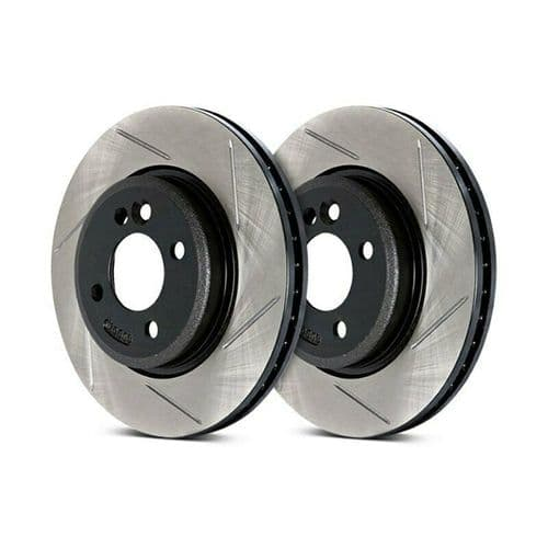 Stoptech Slotted Brake Discs (Front Pair) Honda S2000 99-09