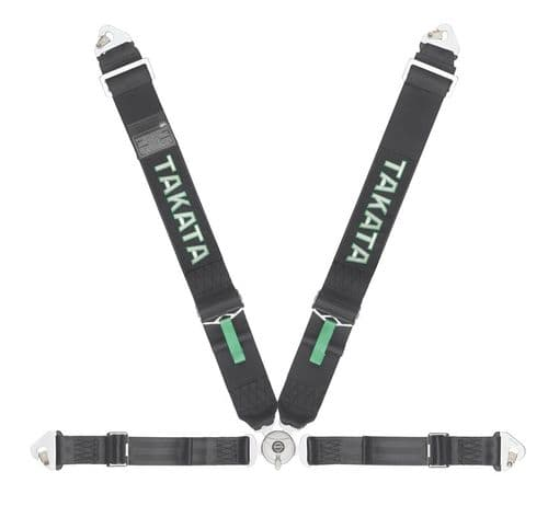 TAKATA RACE 4 HARNESS SNAP-ON BLACK FIA APPROVED