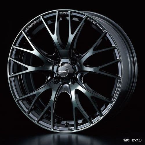 WedsSport SA-20R Alloy Wheel 17x7.5J 5X100 ET48 Chrome Black