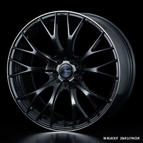 WedsSport SA-20R Alloy Wheel 19x8.5J 5X114.3 ET38 M-Black