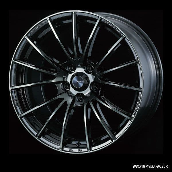 WedsSport SA-35R Alloy Wheel 17x7.5J 4X100 ET38 Chrome Black