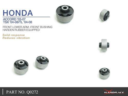 HARDRACE FRONT LOWER CONTROL ARM FRONT BUSHES 2PC HONDA ACCORD 03-07