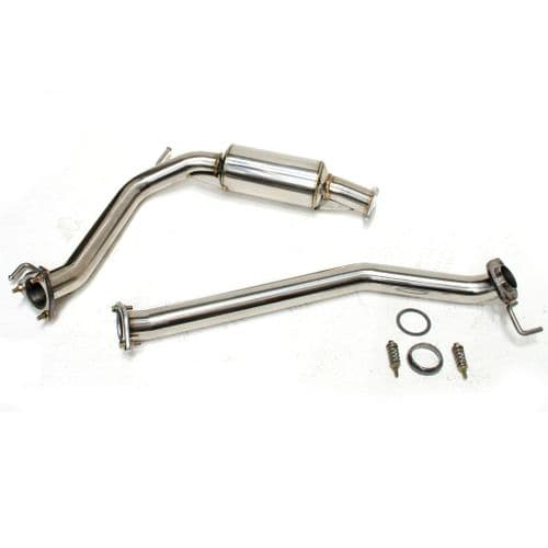 HONDA CIVIC FN2 TYPE R STAINLESS STEEL FRONT PIPE EXHAUST RESONATED