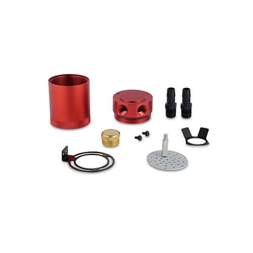 Mishimoto Compact Baffled Oil Catch Can, 2-Port, Red