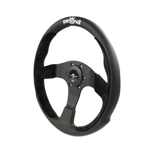 PERSONAL POLE POSITION SUEDE LEATHER STEERING WHEEL