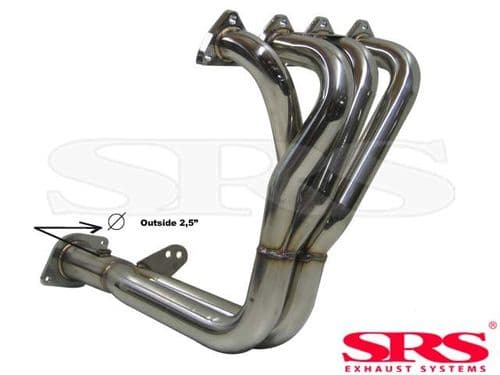 "SRS Exhaust Systems 4-2-1 Header 2.5"" Stainless Steel (Honda B-Engines)"