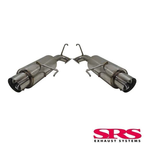 SRS Exhausts Axleback System Dual Stainless Steel G55 (Accord 00-03 4dr Type R)