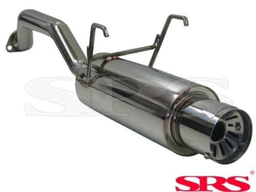 SRS Exhausts Axleback System Stainless Steel G55 (Civic 91-01 2/4dr)