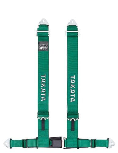 TAKATA RACE 4 HARNESS SNAP-ON GREEN FIA APPROVED