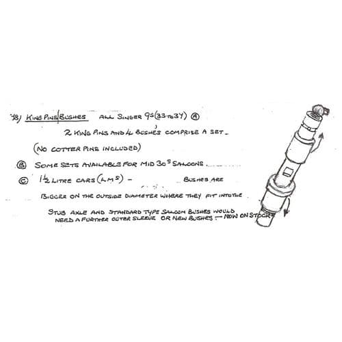 (078) King Pins and Bushes Front Axle